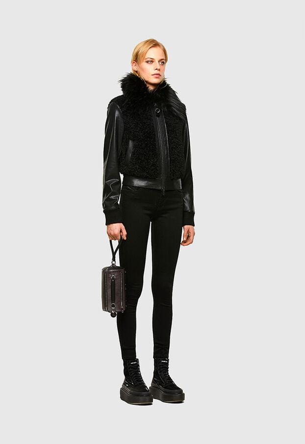 L-LEDA, Black - Leather jackets