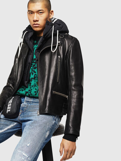 Diesel - L-GOTIV, Black - Leather jackets - Image 4