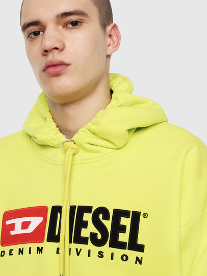 Diesel - S-DIVISION, Yellow Fluo - Sweaters - Image 3