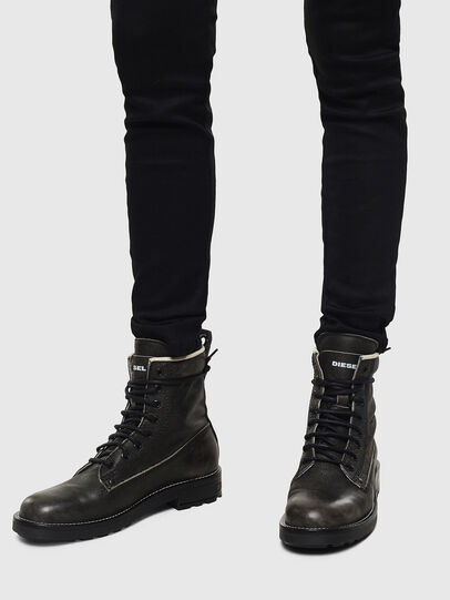 Diesel - D-THROUPER DBB W, Dark grey - Ankle Boots - Image 6