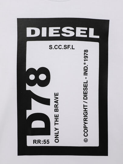 Diesel - TFULL78B-R, White - T-shirts and Tops - Image 3