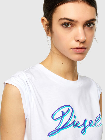 Diesel - T-SILY-K10, White - T-Shirts - Image 3
