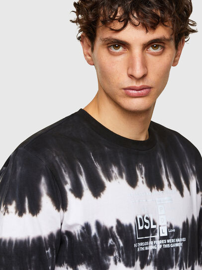 Diesel - T-JUST-A38, Black/White - T-Shirts - Image 3
