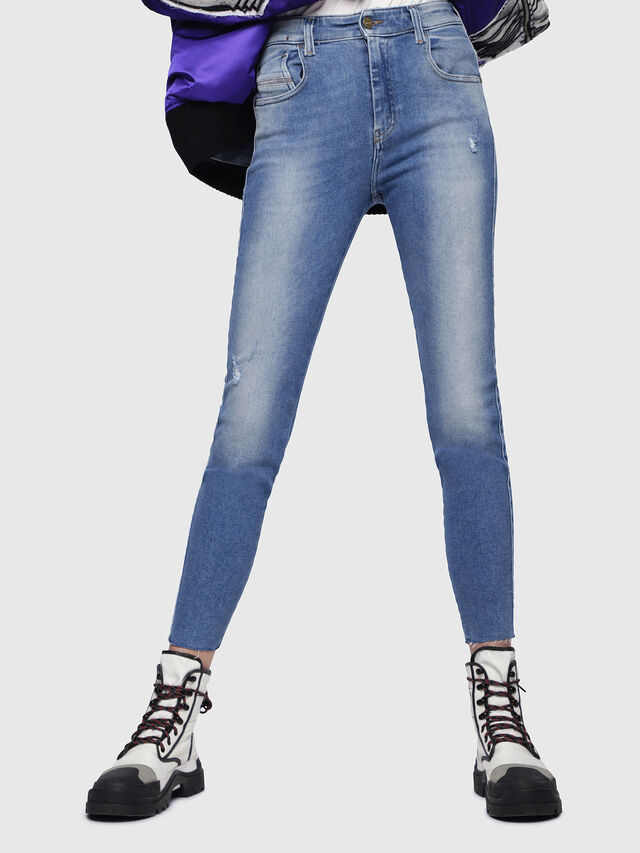 Diesel - Slandy High 086AB, Light Blue - Jeans - Image 1