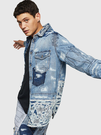 Diesel - D-HISAKY-SY, Blue Jeans - Denim Shirts - Image 4