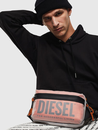 Diesel - FAROH, White/Orange - Crossbody Bags - Image 8