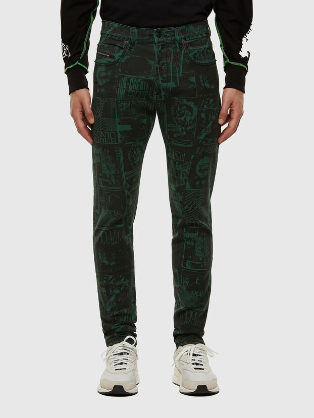 D-Strukt 009GB, Dark Green - Jeans