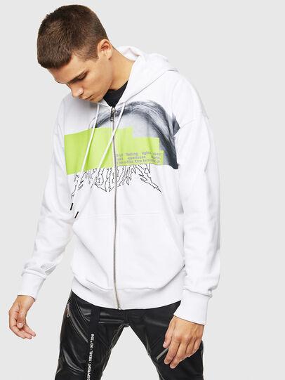 Diesel - S-ALBY-ZIP-B1, White - Sweaters - Image 1
