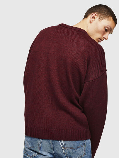 Diesel - K-LOGOX-C, Bordeaux - Knitwear - Image 2