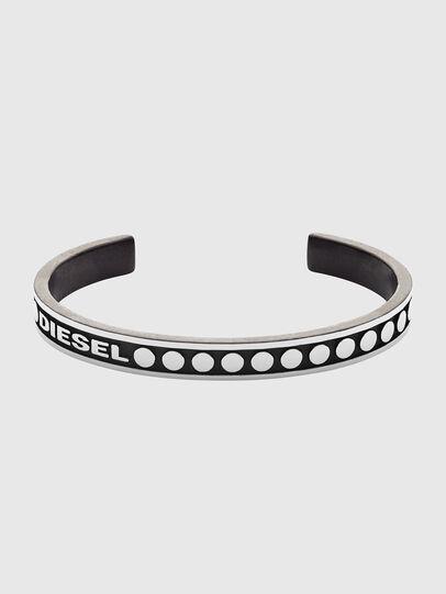 Diesel - DX1167, Silver/Black - Bracelets - Image 1