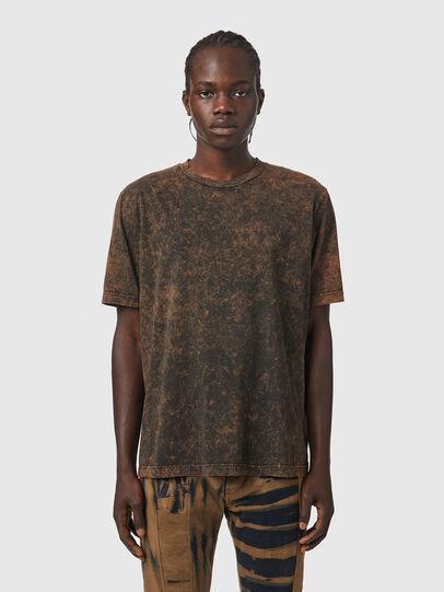 Diesel - T-JUST-SLITS-B65, Black/Brown - T-Shirts - Image 1