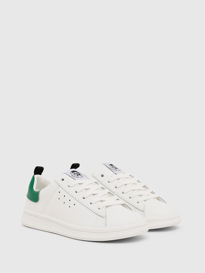 Diesel - SN LOW LACE 11 FULL, White/Green - Footwear - Image 2