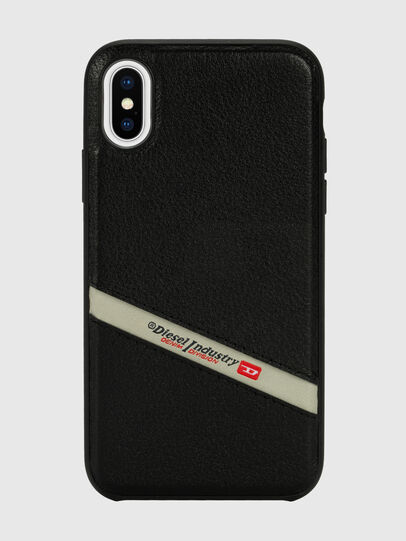 Diesel - DIESEL LEATHER CO-MOLD CASE FOR IPHONE XS & IPHONE X, Black - Cases - Image 2