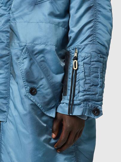 Diesel - W-CLAUD, Blue - Winter Jackets - Image 4