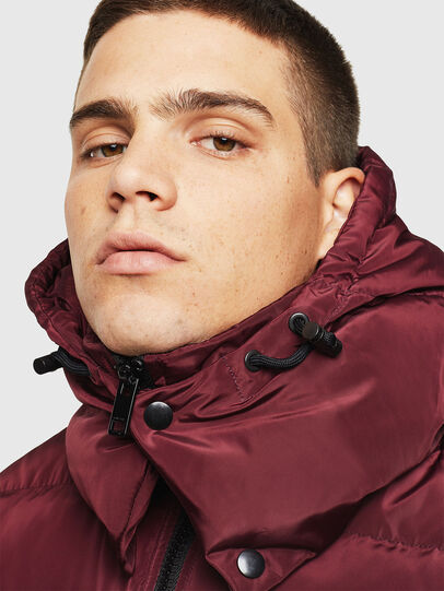 Diesel - W-SMITH-YA, Bordeaux - Winter Jackets - Image 5