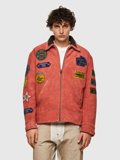 Diesel - DxD-3, Orange - Leather jackets - Image 2