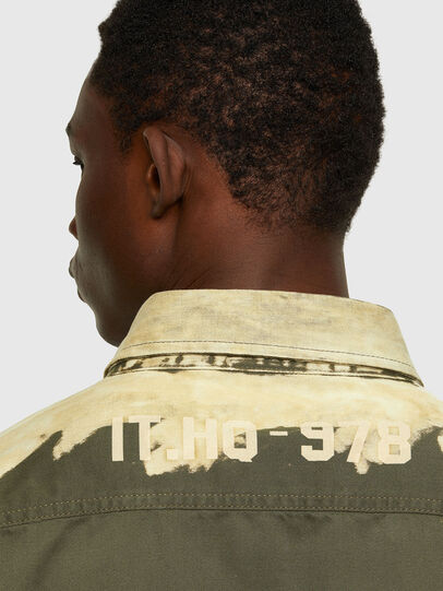 Diesel - S-BUNNELL, Olive Green - Shirts - Image 5