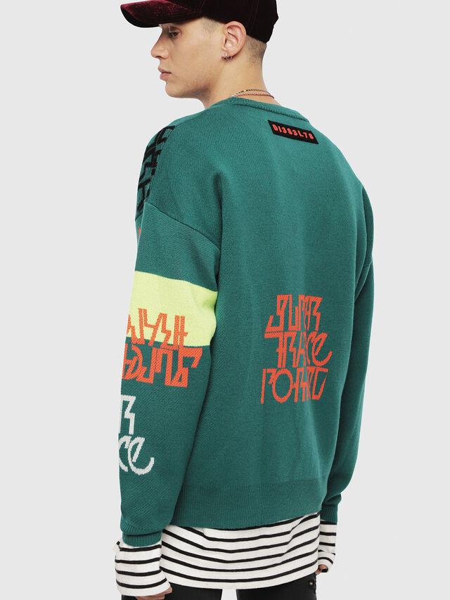 Diesel - K-NOX, Dark Green - Knitwear - Image 2