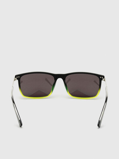 Diesel - DL0312, Black/Yellow - Sunglasses - Image 4