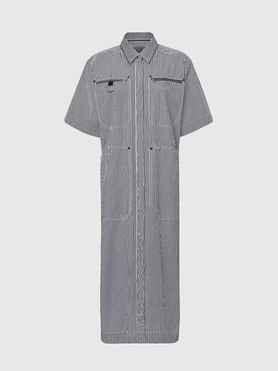 Diesel - D-LIZETH-A, Black/White - Dresses - Image 1