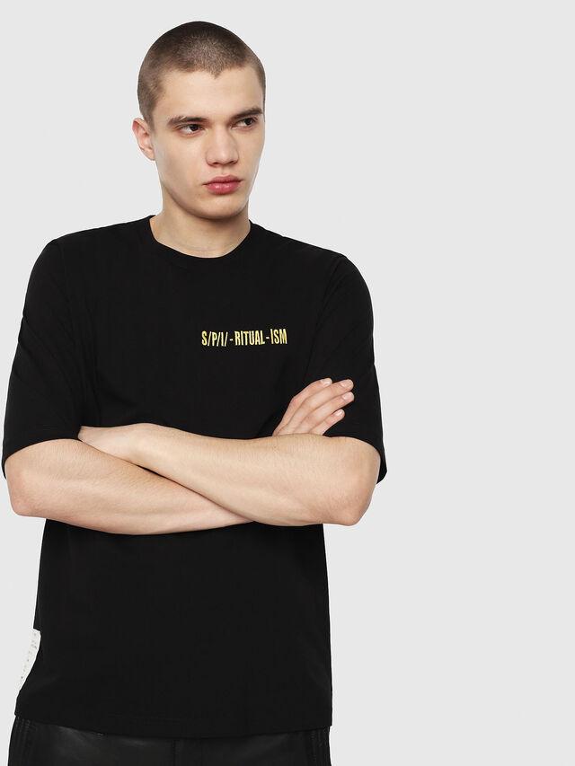 Diesel - T-YOSHIMI, Black/Yellow - T-Shirts - Image 1