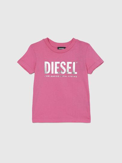 Diesel - TJUSTLOGOB-FL MC-R, Pink - T-shirts and Tops - Image 1
