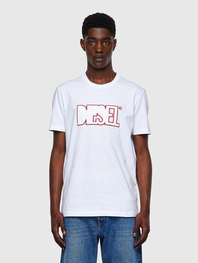 Diesel - T-DIEGOS-B8, Red/White - T-Shirts - Image 1