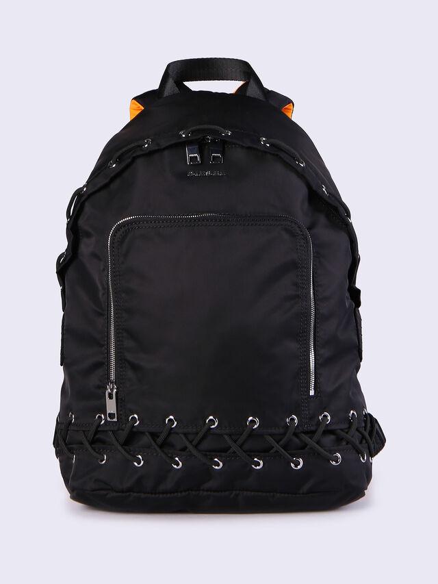 F-SUPERPASS BACK, Black/orange fluo