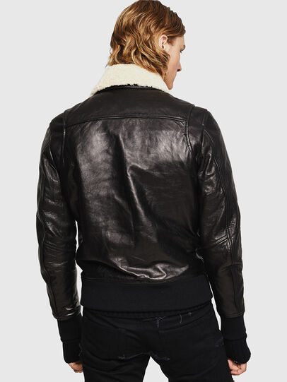 Diesel - L-VINT, Black - Leather jackets - Image 2