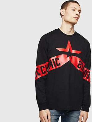 T-JUST-LS-STAR, Black - T-Shirts