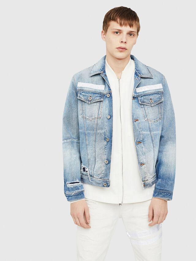 Diesel - NHILL-TM, Blue Jeans - Denim Jackets - Image 1