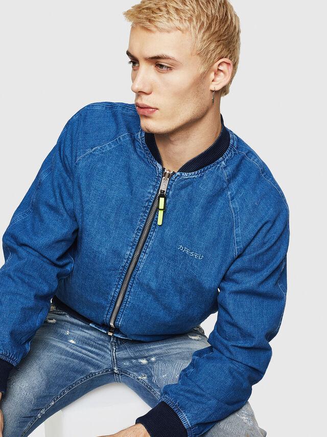 Diesel - D-BAK, Blue Jeans - Denim Jackets - Image 5