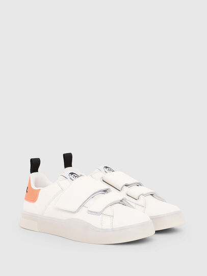 Diesel - S-CLEVER LOW STRAP W, White/Pink - Sneakers - Image 2