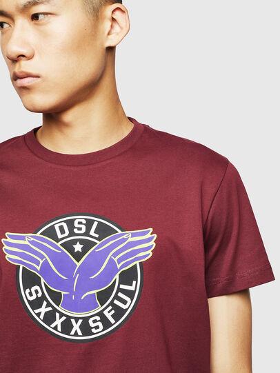 Diesel - T-DIEGO-B5, Bordeaux - T-Shirts - Image 3