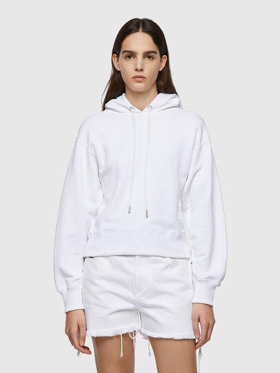 Diesel - F-LYM-HOOD-C.C, White - Sweaters - Image 1