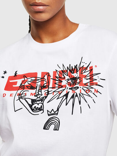 Diesel - T-DARIA-YC, White - T-Shirts - Image 3