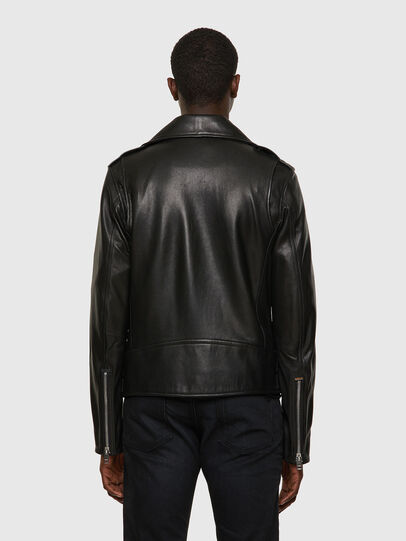 Diesel - L-GARRETT-A, Black - Leather jackets - Image 2