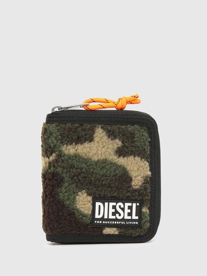 Diesel - PI-ZIP, Green Camouflage - Zip-Round Wallets - Image 1