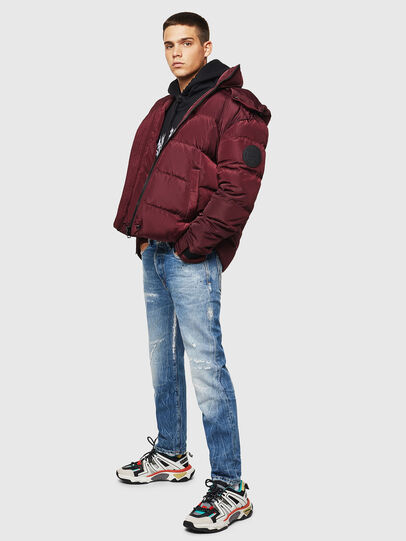 Diesel - W-SMITH-YA, Bordeaux - Winter Jackets - Image 7
