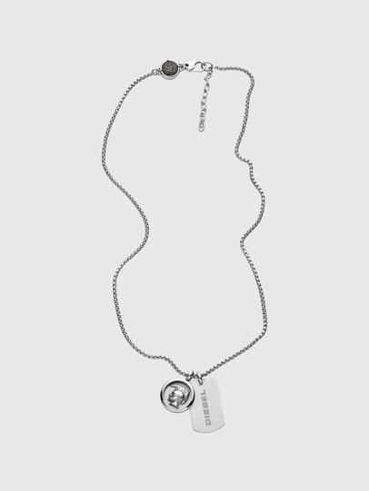 Diesel - DX1209, Silver - Necklaces - Image 1