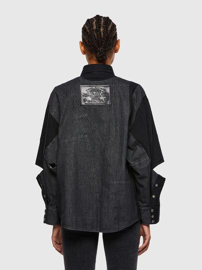 Diesel - DE-RINGLE, Black - Denim Shirts - Image 2