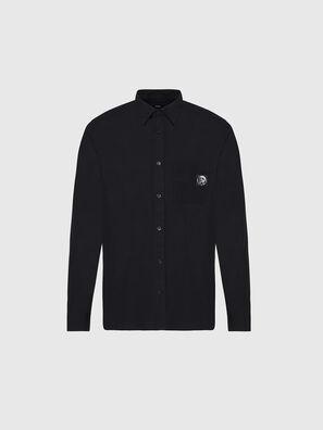 S-BILL-POCKET, Black - Shirts