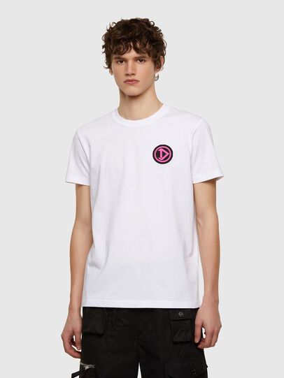 Diesel - T-DIEBIND-E1, White - T-Shirts - Image 1