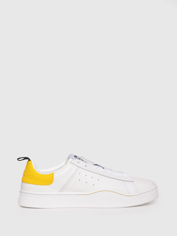 S-CLEVER LOW, White/Yellow - Sneakers