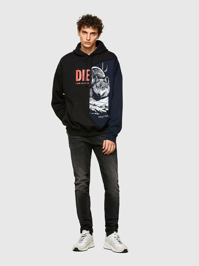 Diesel - S-BLASTY, Blue/Black - Sweaters - Image 4