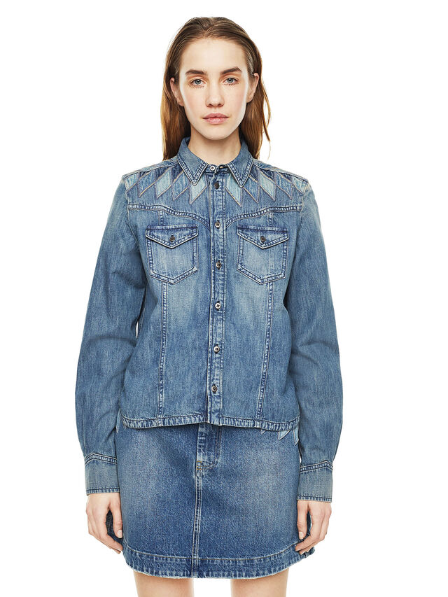 Diesel - CALLYVAN, Blue Jeans - Shirts - Image 1