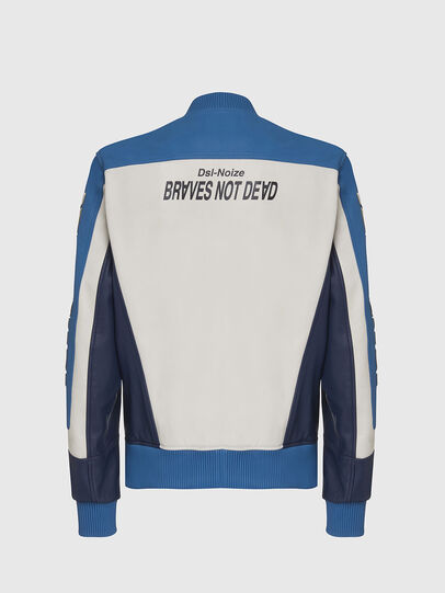 Diesel - L-MAY, Blue/White - Leather jackets - Image 2