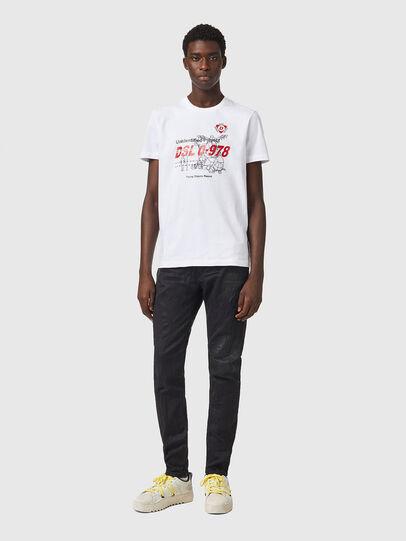 Diesel - T-DIEGOS-B82, White - T-Shirts - Image 4