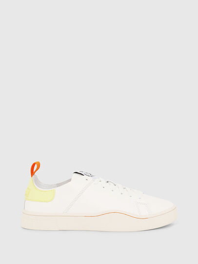 Diesel - S-CLEVER LS W, White/Yellow - Sneakers - Image 1
