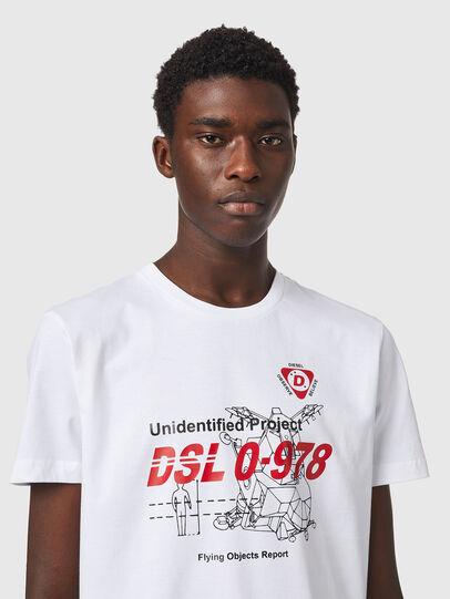 Diesel - T-DIEGOS-B82, White - T-Shirts - Image 3